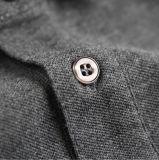 Gestricktes lange Hülsen-beiläufiges kundenspezifisches Polo-Hemd der Männer