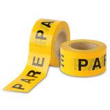저가 황색 색깔 PE 주의 테이프 경고 테이프