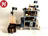 Nuevo Diseño Venta caliente barco pirata y de la casa Juguetes de madera juguetes de inteligencia del bebé