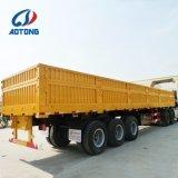 Seitliche Wand-Ladung-Flachbettschlußteil China-3axle 60ton für Verkauf
