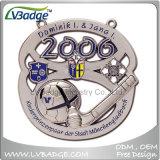 昇進のリボンが付いている安いカスタム金属のスポーツメダル