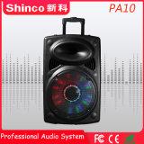 Shinco 10'' colunas portáteis Bluetooth Carrinho de Karaoke