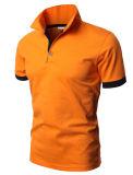 Chemises de polo occasionnelles d'ajustement de broderie de Mens de qualité faite sur commande de logo