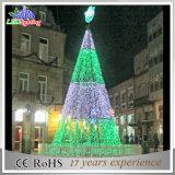indicatori luminosi esterni della decorazione di festa dell'albero di spirale di natale di 5m LED 3D