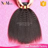 Virgem Reta Brasileira Remy cabelos molhados e cabelo ondulado Yaki Extensão de cabelo