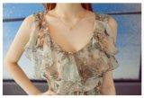 Imprimé floral robe longue en mousseline de l'été