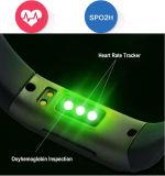 心拍数のスマートなブレスレット、スマートなバンドおよびIos Andriodのスマートな電話のための血の酸素の健康の追跡者のBluetoothのブレスレット
