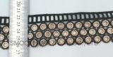 Il nastro nero del testo fisso del merletto dell'occhiello del cotone del metallo di modo copre gli accessori