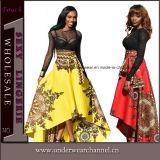 L'Afrique haute/basse à l'ourlet asymétrique Maxi Jupe imprimée pour les femmes de la Prom