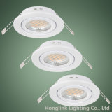 Ajustable blanca GU10/MR16 LED halógenos Downlight empotrable de techo soporte de la luz