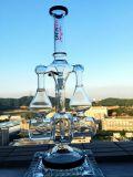 18inch 60 de Rokende Waterpijp van het Glas van de Tabak van de Douche van Birdcage van het Wiel van het Onkruid van de Honingraat Adustable van de Diameter 5thickness