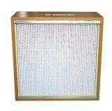 Плиссированный H13/H14 фильтр деревянной рамки HEPA для Cleanroom