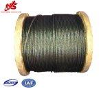 """Faisceau noir 5/8 de fibre de la corde 6X19 de fil d'acier """""""