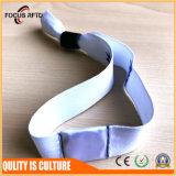 싼 Cost Disposable Fabric 또는 Music Festival Event를 위한 Woven RFID Bracelet와 Wristband