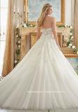 Alineada de boda nupcial de Tulle del corsé del cordón de los vestidos de bola del amor 2017 Mrl2877