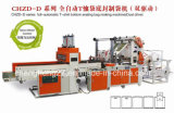 Full-Automatic Double-Line/Cuatro Hot-Sealing & Cold-Cutting Bolsa Bolsa de camiseta que hace la máquina