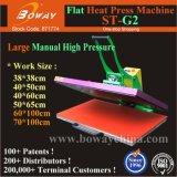 stampante piana St-G2 della maglietta di 70*100cm dei vestiti della pressa calda termica ad alta pressione manuale di scambio di calore