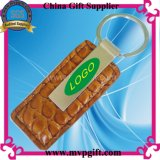 Ledernes Keyring mit Customer Logo Print/Engraving