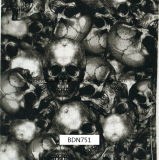 頭骨パターンHydrographicsの印刷のフィルム、水転送の印刷のフィルム、PVAのフィルム、モーターバイク(BDN739)のための液体の画像のフィルム