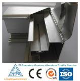 Perfil de alumínio da fábrica feita sob encomenda de uma paragem para a porta e o indicador de alumínio