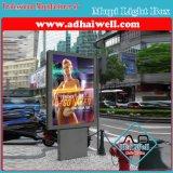 通りの自由で永続的なアルミニウムスクローリングLEDライトボックス