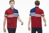 정규병 적당한 다채로운 줄무늬 폴로 셔츠