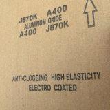 Kalziniertes Aluminiumoxyd-Schmirgelleinen J870k rostfreies Polier400#