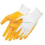 Практические Oil-Resistant полиэстер нитриловые перчатки