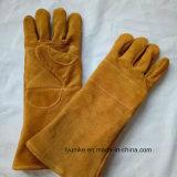 Безопасности коровы Split кожаные перчатки сварочные работы на заводе