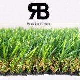 grama artificial sintética do campo do relvado da decoração Anti-UV da paisagem 3/8inch para a HOME do jardim