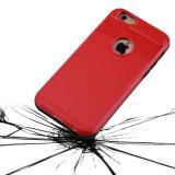 Панцырь трудного слоя крышки [почищенной щеткой текстуры металла] двойного гибридный [Анти--Поцарапайте] [предохранение от удара] для iPhone 6s Apple (4.7 дюйма)