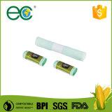 Écologique compostable biodégradable PLA personnalisée complète de sacs à ordures sur rouleau