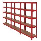Garaje de la Bahía de 3 estanterías de almacenamiento de taller de estante de la esquina de Tier 5