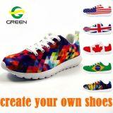 Greenshoe China Nombre de los proveedores de tiendas de calzado, el logotipo personalizado hecho hombres zapatos calzado, zapatos de hombre casual impreso Alibaba
