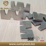 Segment de diamant de forme du constructeur W de la Chine pour le marbre de granit de découpage