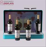 Pequeño vino de la promoción decorativa o estante de visualización de acrílico contrario de las botellas de la bebida