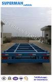 20FT Utility o transporte de contentores de mesa uma barra de reboque industrial para utilização de porta
