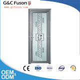 Usine de porte en verre double vitre en aluminium de haute qualité