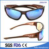 Óculos de sol polarizados projeto da forma da fonte da fábrica com teste padrão delicado
