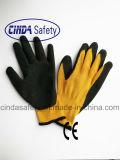 Latex Met een laag bedekte Kreuk die Handschoenen werken