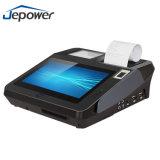 Dispositivo Android da posição do leitor de cartão do crédito com impressora térmica