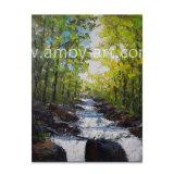 Pitture a olio della lama di gamma di colori delle cascate di silvicoltura