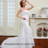 Nixe-Hochzeits-Kleider mit einem Schal-Brautrobe-Brautkleid