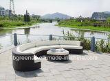 Conjunto de Sofa de Sofa de Resina Rattan Wicker Resort Hotel Furniture