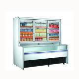 최신 판매 이중 온도 슈퍼마켓 진열장 냉장고 냉장고