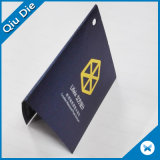 Étiquette du fabriquant chaude de papier de noir de vente avec l'étiquette de joint pour le vêtement