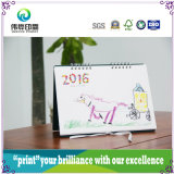 Colorful Calendar Printing with Children Drawing Picture