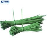 Coloful 녹색 플라스틱 케이블 동점