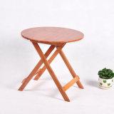 Vente en gros en bambou de Tableau dinant de table ronde de jardin de Tableau de pliage de Tableau