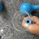 Cabeça esférica de borracha de venda quente canolamento de vidro definido (5 chávenas/set)